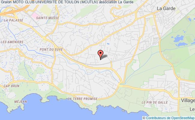plan association Moto Club UniversitÉ De Toulon ( Mcutln )