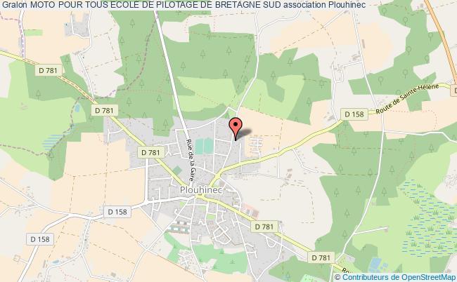 plan association Moto Pour Tous Ecole De Pilotage De Bretagne Sud