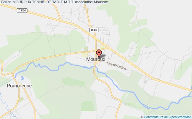 plan association Mouroux Tennis De Table M.t.t. Mouroux