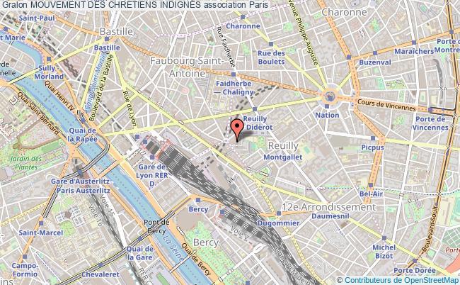 plan association Mouvement Des Chretiens IndignÉs Paris