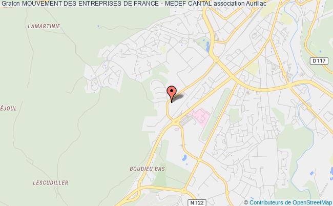 plan association Mouvement Des Entreprises De France - Medef Cantal
