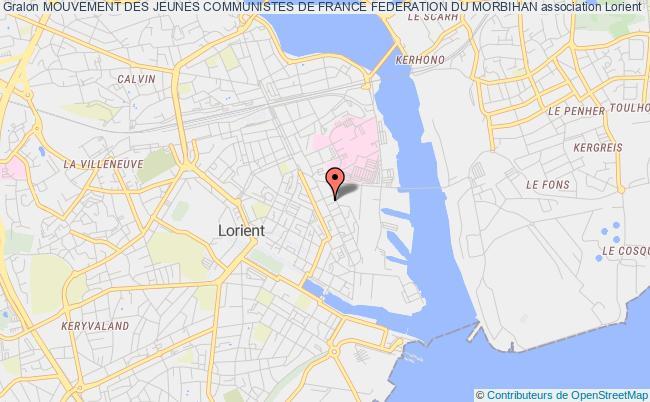 plan association Mouvement Des Jeunes Communistes De France Federation Du Morbihan