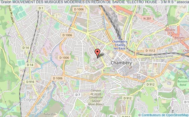 plan association Mouvement Des Musiques Modernes En Region De Savoie ''electro House - 3 M R S ''