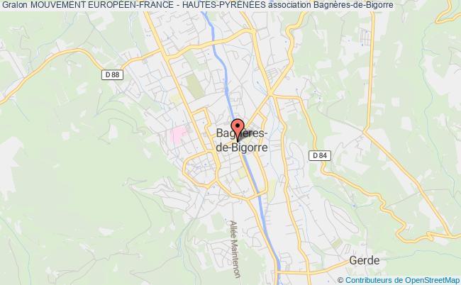 plan association Mouvement EuropÉen-france - Hautes-pyrÉnÉes Lourdes