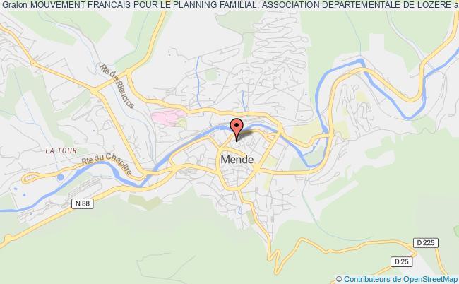 plan association Mouvement Francais Pour Le Planning Familial, Association Departementale De Lozere