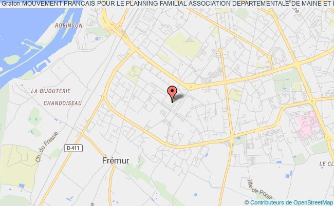 plan association Mouvement Francais Pour Le Planning Familial Association Departementale De Maine Et Loire.