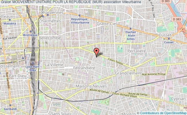 plan association Mouvement Unitaire Pour La Republique (mur)