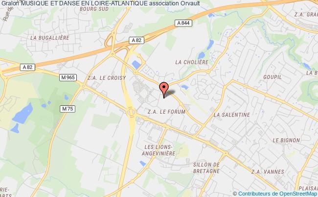 plan association Musique Et Danse En Loire-atlantique