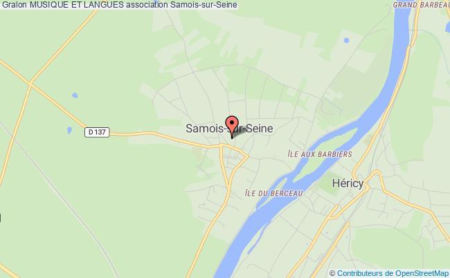 plan association Musique Et Langues Samois-sur-Seine