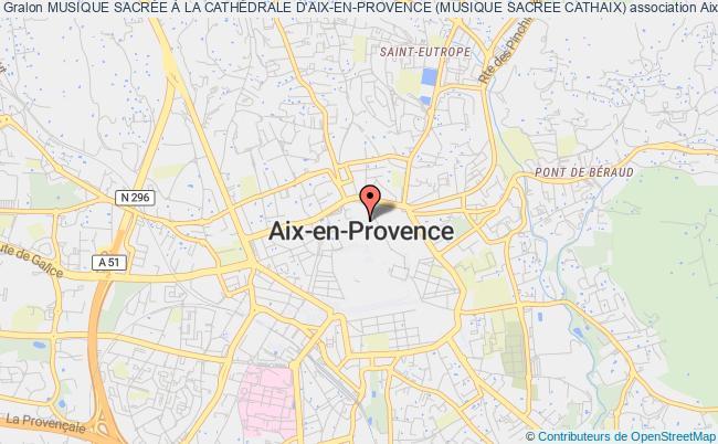 plan association Musique SacrÉe À La CathÉdrale D'aix-en-provence (musique Sacree Cathaix)