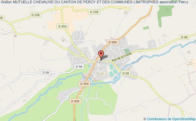 plan association Mutuelle Chevaline Du Canton De Percy Et Des Communes Limitrophes Percy