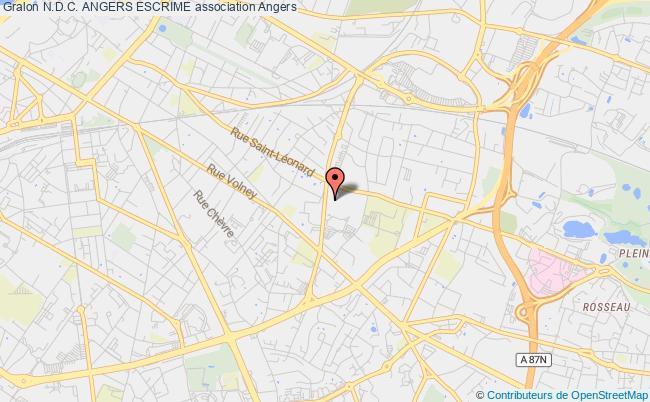 plan association N.d.c. Angers Escrime Angers