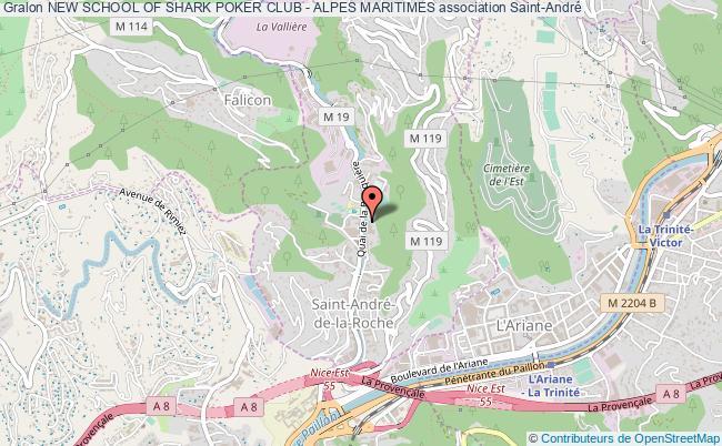 plan association New School Of Shark Poker Club - Alpes Maritimes