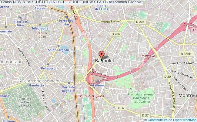 plan association New St'art-liste Bda Escp Europe (new St'art)