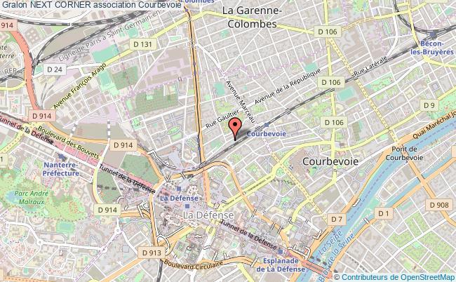 plan association Next Corner Courbevoie