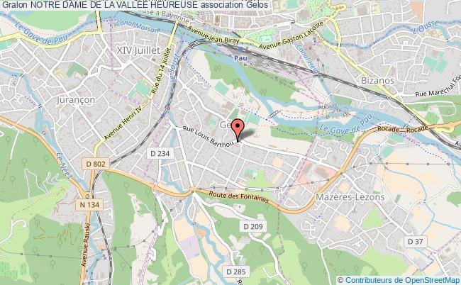 plan association Notre Dame De La VallÉe Heureuse