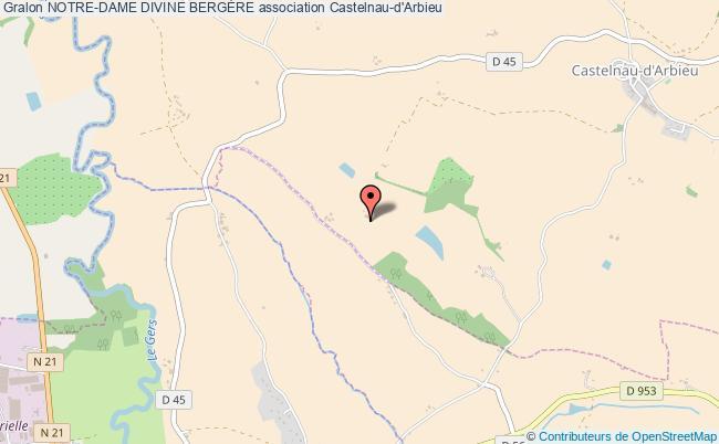 plan association Notre-dame Divine BergÈre Castelnau-d'Arbieu