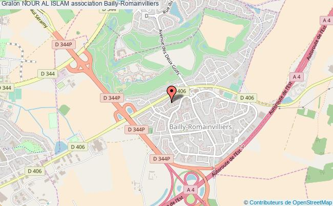 plan association Nour Al Islam Bailly-Romainvilliers