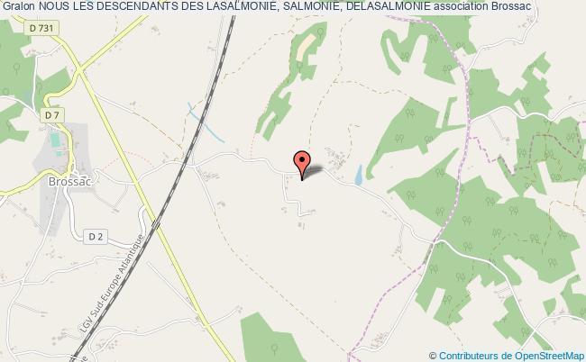 plan association Nous Les Descendants Des Lasalmonie, Salmonie, Delasalmonie Brossac