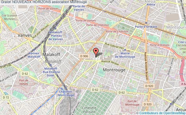 plan association Nouveaux Horizons Montrouge