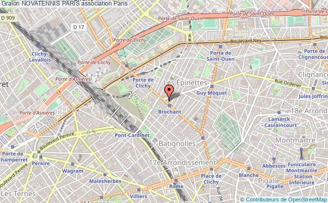 plan association Novatennis Paris