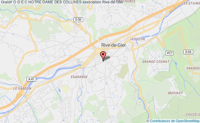 plan association O G E C Notre Dame Des Collines Rive-de-Gier