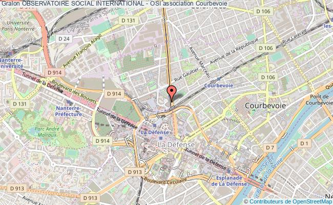 plan association Observatoire Social International - Osi Courbevoie