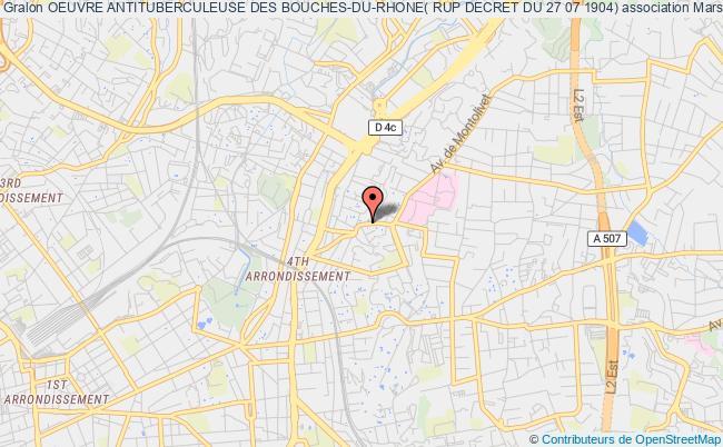 plan association Oeuvre Antituberculeuse Des Bouches-du-rhone( Rup Decret Du 27 07 1904)