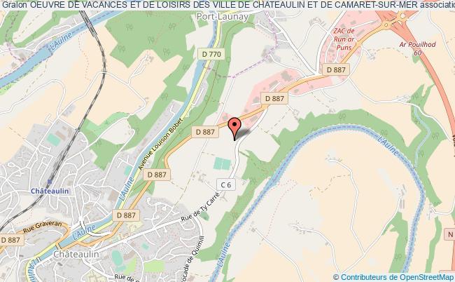 plan association Oeuvre De Vacances Et De Loisirs Des Ville De Chateaulin Et De Camaret-sur-mer