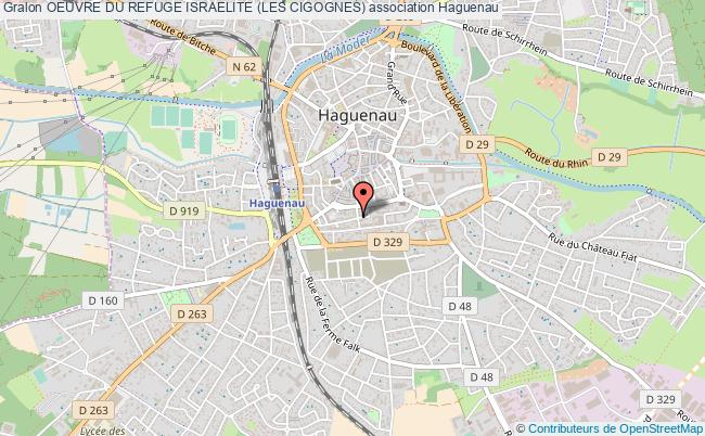 plan association Oeuvre Du Refuge Israelite (les Cigognes) Haguenau