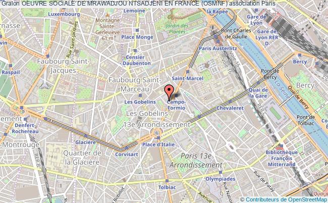 plan association Oeuvre Sociale De Mrawadjou Ntsadjeni En France (osmnf)