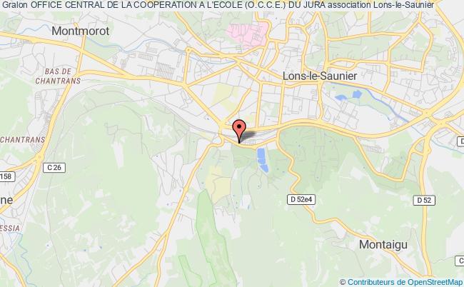 plan association Office Central De La Cooperation A L'ecole (o.c.c.e.) Du Jura