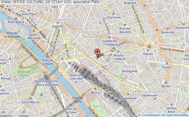 plan association Office Culturel De Cluny Occ Paris 12e