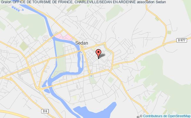 plan association Office De Tourisme De France, Charleville/sedan En Ardenne