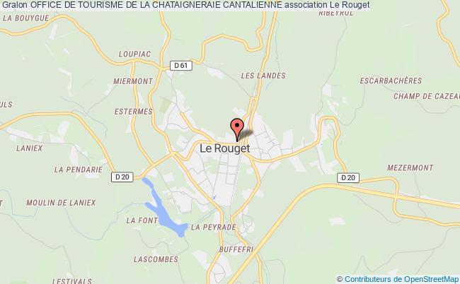 plan association Office De Tourisme De La Chataigneraie Cantalienne