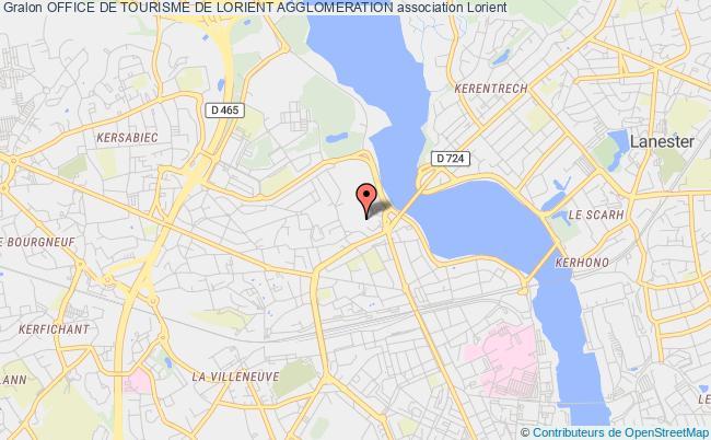 plan association Office De Tourisme De Lorient Agglomeration