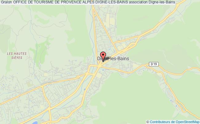 plan association Office De Tourisme De Provence Alpes Digne-les-bains