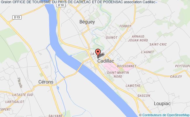 plan association Office De Tourisme Du Pays De Cadillac Et De Podensac Cadillac