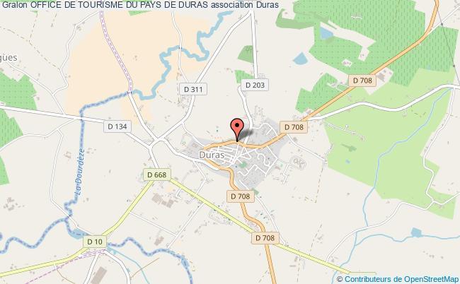 plan association Office De Tourisme Du Pays De Duras Duras