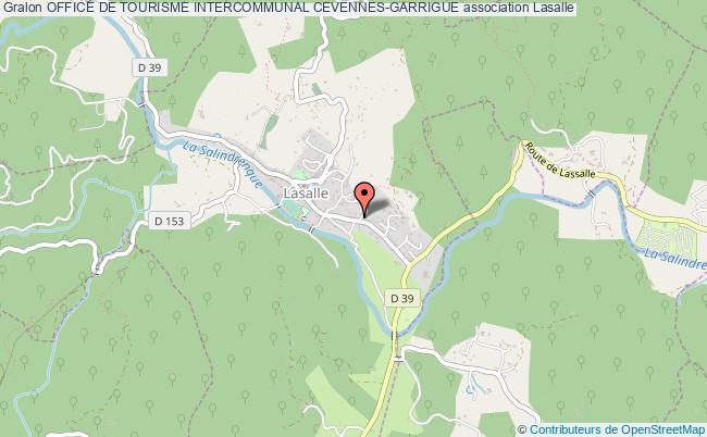 plan association Office De Tourisme Intercommunal Cevennes-garrigue