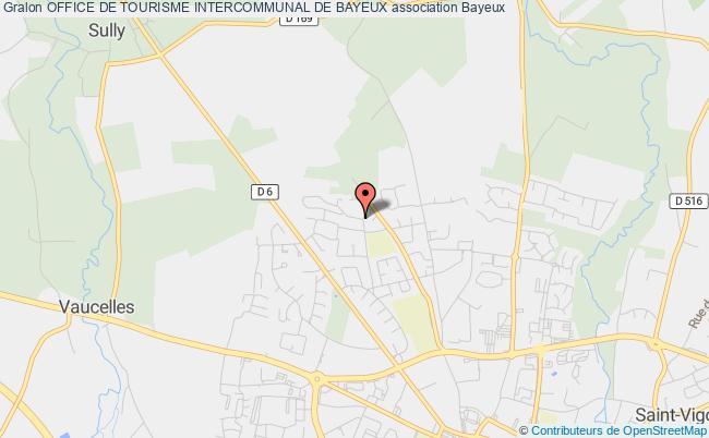 plan association Office De Tourisme Intercommunal De Bayeux Bayeux