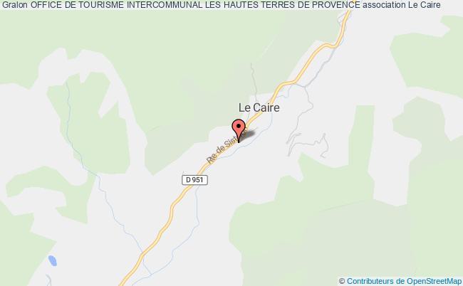 plan association Office De Tourisme Intercommunal Les Hautes Terres De Provence