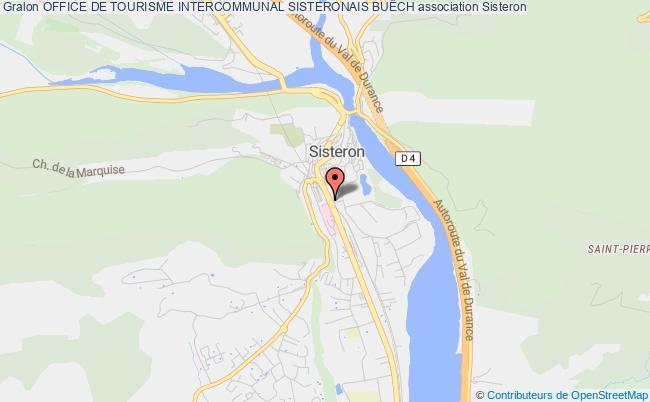 plan association Office De Tourisme Intercommunal Sisteronais BuËch