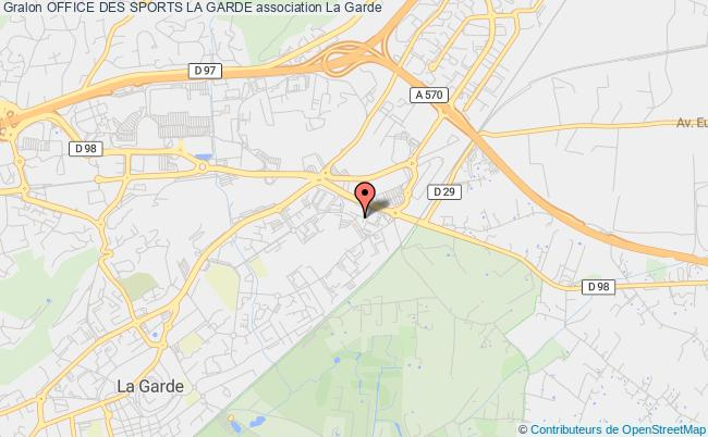 plan association Office Des Sports La Garde