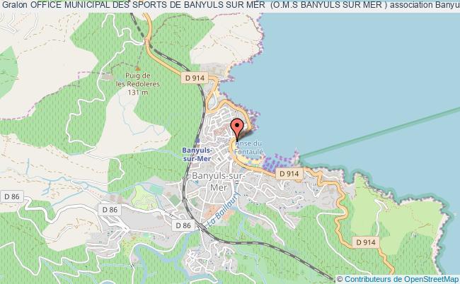 plan association Office Municipal Des Sports De Banyuls Sur Mer  (o.m.s Banyuls Sur Mer )
