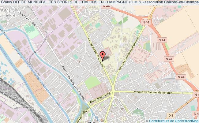 plan association Office Municipal Des Sports De Chalons En Champagne (o.m.s.)