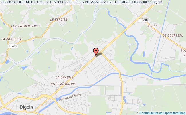 plan association Office Municipal Des Sports Et De La Vie Associative De Digoin Digoin
