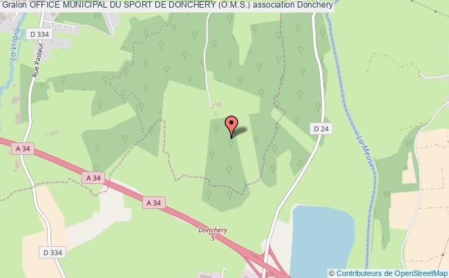 plan association Office Municipal Du Sport De Donchery (o.m.s.)