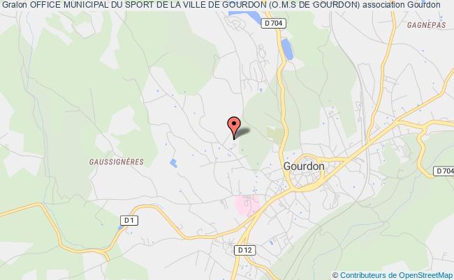 plan association Office Municipal Du Sport De La Ville De Gourdon (o.m.s De Gourdon)