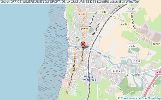 plan association Office Wimereusien Du Sport, De La Culture Et Des Loisirs Wimereux